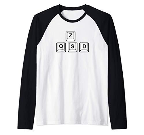 Code de clavier Gaming ZQSD pour les joueurs de Jeux Manche Raglan