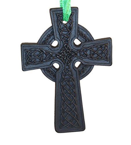Liffey Artefacts Irish Celtic Cross Turf Hanging Ornament