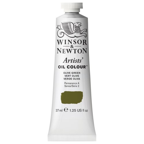 Winsor & Newton Artists' Oil Color Paint, 37-ml Tube, Olive Green