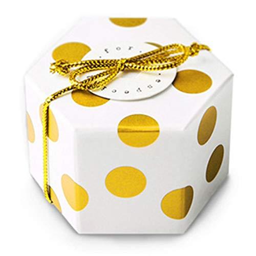Hocee vele soorten gouden geschenkdoos zeshoek bruiloft chocolade suiker snoep doos bakken pakket bruiloft partij gift lege doos H01