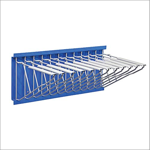 Adir Corp. Wall Mount Blueprint Storage - Hanging Poster Display Rack - Plans File Holder Organizer - Ideal for Small Or Big Office, Home (Blue)