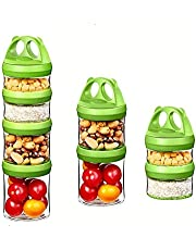 Baby Food Storage Containers Portable and Stackable 4-Piece Twist n' Lock Storage Jar for Healthy Snacking Food Reusable BPA Free