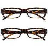 The Reading Glasses Company Gafas De Lectura Marrón Carey Ligero Cómodo Lectores Valor Pack 2 Estilo Diseñador Hombres Mujeres Uvr2Pk032Br +2,50 2 Unidades 70 g