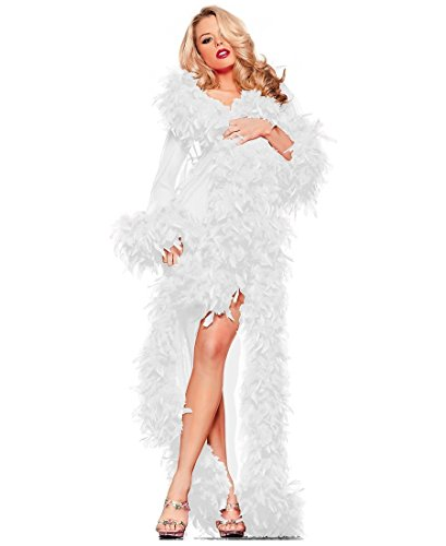 Glamour Robe Adult Lingerie White - One Size