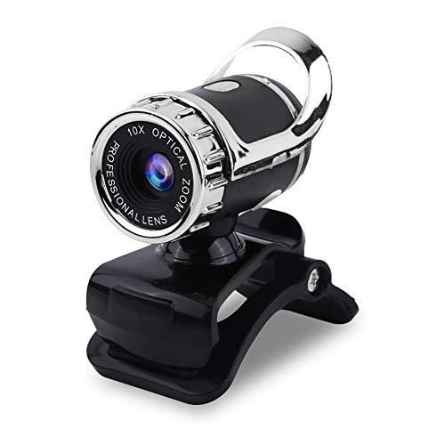 Bewinner Webcam für PC, Desktop Laptop Computer Kamera USB HD Videokamera mit Mikrofon, 12,0 Mio Pixel Clip-on Webcam Webkamera HD 360 ° Drehbare Stand Camcorder, 640 * 480 dynamische Auflösung