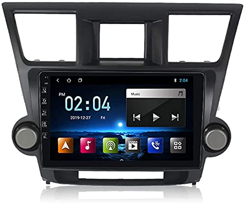 ZHANGYY Navegación GPS para automóvil Estéreo automático Compatible con Toyota Highlander 2008-2013 Android 10 Radio BT Llamada Manos Libres