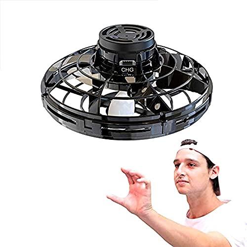 Mopoq Vuelo del juguete de mano de vías aviones no tripulados for niños o adultos - Scoot manos libres mini drone helicóptero con 360 ° de rotación Y Shinning luces LED, regalo de adultos for sorpresa