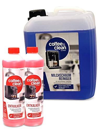 5L Milchsystemreiniger Cappuccino-Reiniger Sahnereiniger + 1,5L Flüssigentkalker für Kaffeevollautomaten Gastro