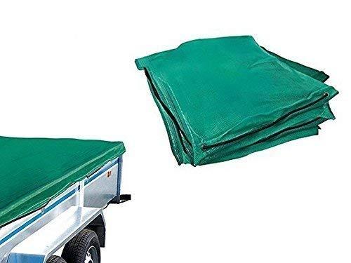 Toolzy 100057 160 x 250cm Anhängernetz Abdeckung Ladungssicherung Grün