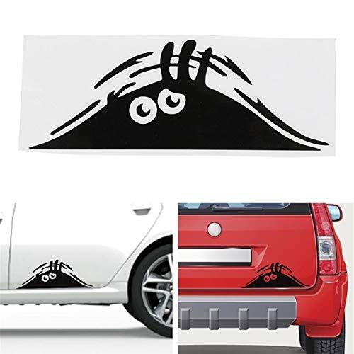 YSJJUSZ Sticker de Carro Divertido Creativo 3D Ojos Grandes calcomanías de Coche Etiqueta Negra Peeeking Monster 19x7cm para decoración de automóviles Auto Products (Color Name : 1)