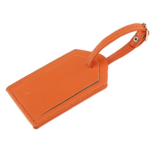 #N/A Große Größe Leder Gepäckanhänger Koffer ID Karte Name Etikett Gepäck Adresse Reise - orange