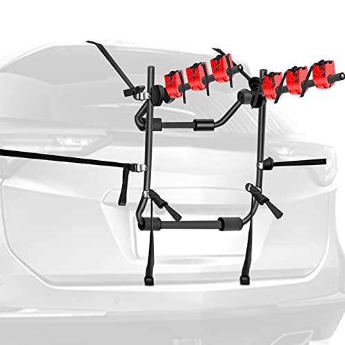 WALMANN Bike Car Racks 3 Bike Carrier for Car Bicycle Rack Fits Most Cars, Sedans, Hatchbacks, Minivans and SUVs, Bike Rack Trunk Mount