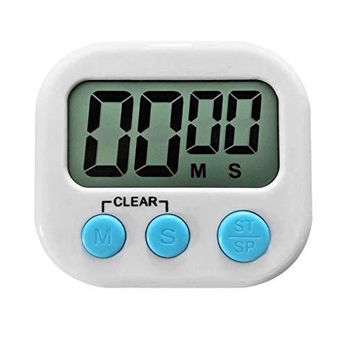 XKMY Temporizador de cocina digital 1 unidad con soporte magnético de respaldo de cuenta regresiva, alarma de dígitos grandes para cocinar juegos deportivos (color: blanco)