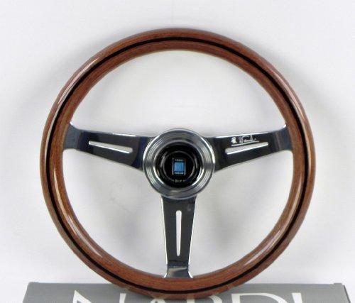 Nardi volante–Classic–330mm (12.99pulgadas)–madera de caoba con pulido radios–Parte # 5061.33.3000