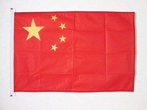 AZ FLAG Drapeau Chine 90x60cm - Drapeau Chinois 60 x 90 cm Spécial Extérieur - Drapeaux
