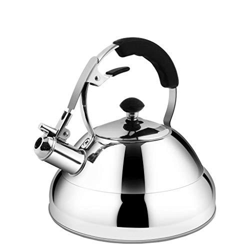 JXLBB 2,6 L à gaz naturel bouilloire brûlant 304 en acier inoxydable de ménage cuisinière à induction de gaz universel sifflet composé