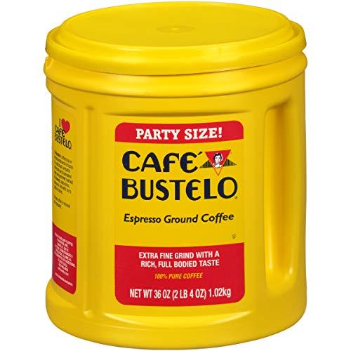 Café Bustelo Espresso Ground Coffee, 36 oz Party Size Canister