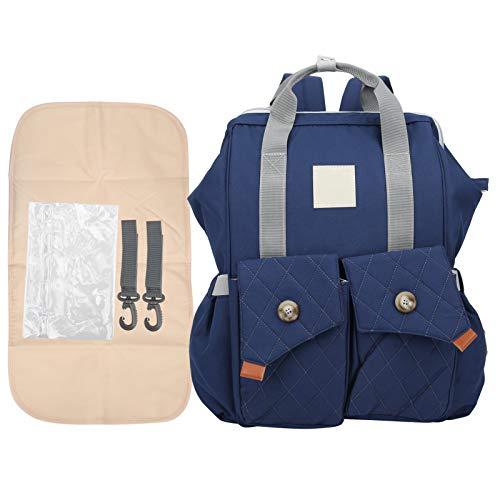 Bolsa para cambiar pañales, no tóxica, inodoro, cómoda bolsa para pañales de maternidad, para almacenamiento de momias(Starry blue)