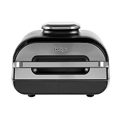 Ninja Grill & friteuse à air Foodi Max [AG551EU] avec sonde de Cuisson numérique Grill & Air Fryer, Non-Stick Ceramic Coated, 3.8 liters, Gris/Argent