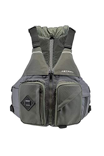 Astral Ronny Fisher Life Jacket PFD for Fishing, Recreation, and Touring Kayaking, Granite Gray, L/XL