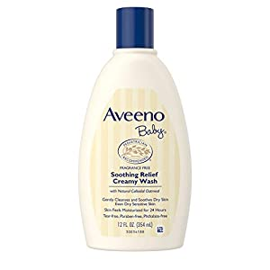Aveeno Baby Soothing Relief Creamy Wash with Natural Oatmeal for Dry, Sensitive Skin, 12 fl. oz