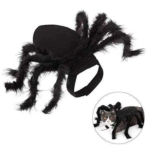 Lifreer Halloween Spinne Haustier Kostüme, Hund Spinne Kostüm, Hund Outfits Plüsch Spinne Cosplay für Katze und Hund Halloween Party Cosplay Kostüm, Kleine Größe