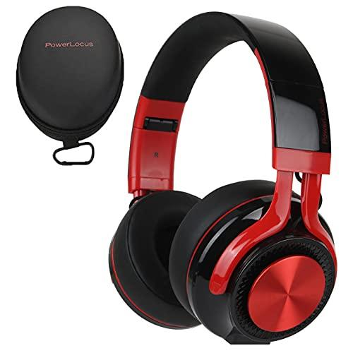 PowerLocus P3 Bluetooth Over-Ear Kopfhörer, [40std Spielzeit] Kopfhörer Kabellos mit HD Stereo,Faltbar Wireless Kopfhörer mit Mikrofon zum Freisprechen Kabellose und Kabel für iPhone/Android/Windows/TV