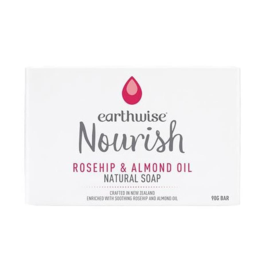 なぜウィスキー反対にearthwise アースワイズ ナチュラルソープ 石鹸 90g (ローズヒップ&アーモンドオイル)