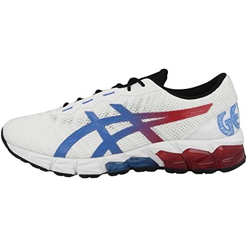 ASICS Zapatillas de correr para hombre Gel-Quantum 180 5, White Blue Coast 1021a464 101, 42.5 EU