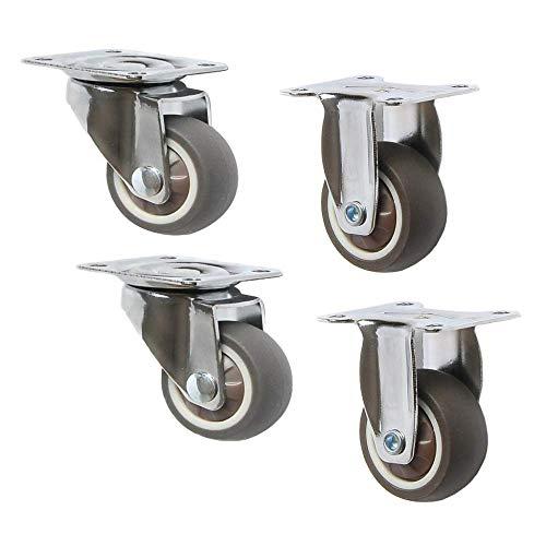 Ruedas para Muebles Rueda giratoria de 2 Pulgadas Ruedas giratorias Resistentes al Desgaste sin Ruido para electrodomésticos (Paquete de 4) / A / 79x50 mm