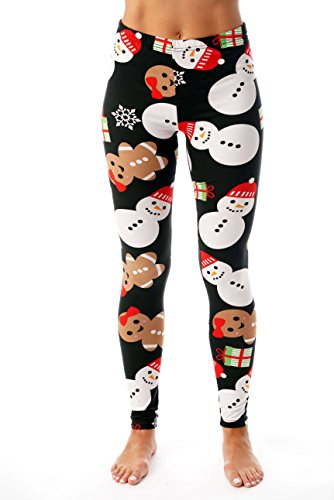 Just Love Ugly Christmas Holiday Leggings 401583-10339-XL