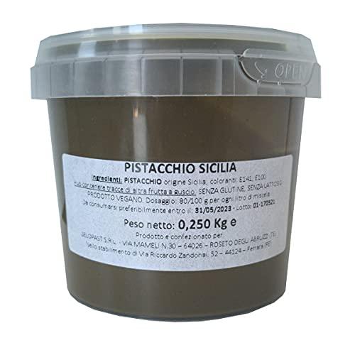 Pasta di Pistacchio Puro 100% origine Sicilia - barattolo 250gr