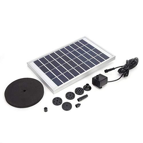 Fontein op zonne-energie, minipomp met drijvende schijf, zeer efficiënt, voor zwembadfontein, 10 V, 5 W, voor Birdbath, tuin, outdoor