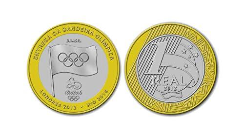Moeda Comemorativa Colecionável Olimpíada Brasil Rio 2012 Entrega da Bandeira Raridade