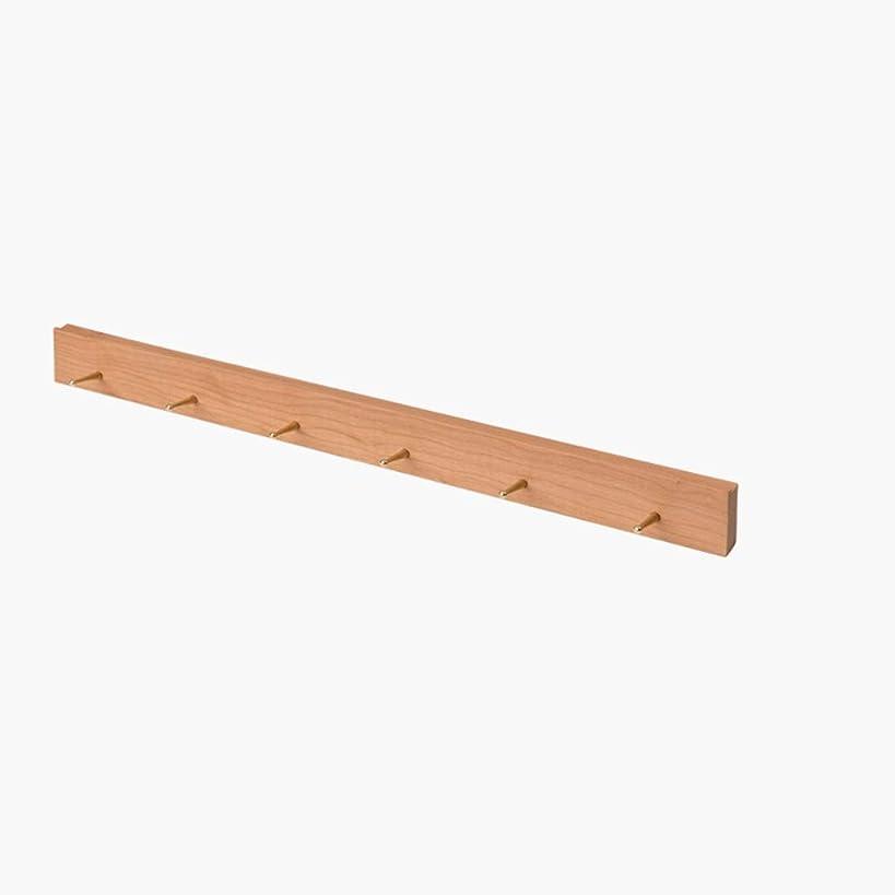 スラダムいつでもハグ壁に取り付けられたコートラックの純木の衣服の立場は取付けることが容易で、強い耐荷力があります AMINIY (Color : B, Size : 700×25×60mm)