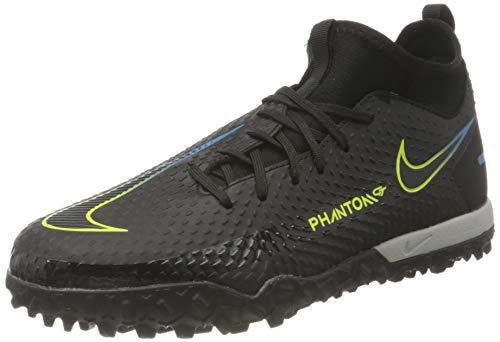 Nike JR Phantom GT Academy DF TF, Scarpe da Calcio, Black/Black-Cyber-lt Photo Blue, 38 EU