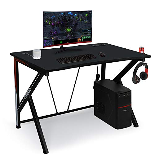 "45.66"" Gaming Desk, E-Sports Computer Desk Table with Large Size Ergonomic Surface and Heavy Duty Construction for Home or Office, Computer Workstation"