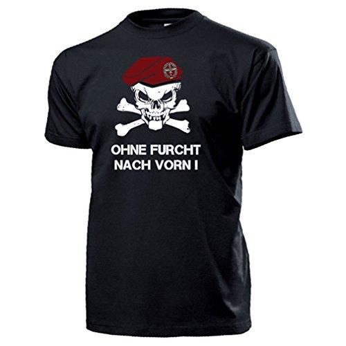Heeresflieger BW Barett Schädel_Bundeswehr Heer Ohne Furcht - T Shirt #14329, Farbe:Schwarz, Größe:Herren L