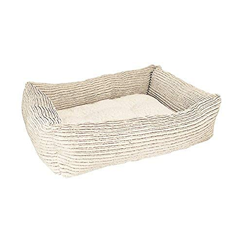 Rosewood 04438 Soft und Comfortable Jumbo Square Cord Hundebett, L, beige