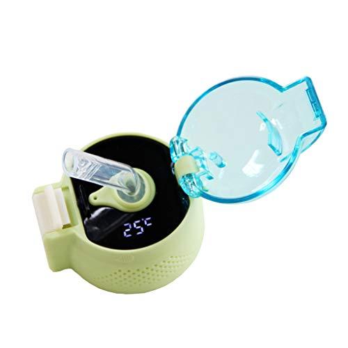 Joocyee - Funda para Termo de 4,7 cm, Adecuada para reemplazo Inteligente de medición de Temperatura, Accesorios de Taza de Termo Verde con Pantalla de Temperatura, Tapa de Botella Inteligente, Verde