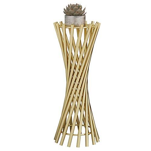 GLF Soportes de Metal para macetas - Soporte para Plantas de Arte de Hierro - Soporte para Plantas en macetas a Prueba de Herrumbre - Estante de exhibición Decorativo de Esquina Elegante para in