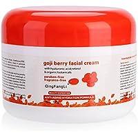 Crema Hidratante Facial Anti-Edad China Tranditional Goji Berry Crema Hidratante Blanqueadora Antiarrugas Revitalizar Crema Antioxidante Día/Noche