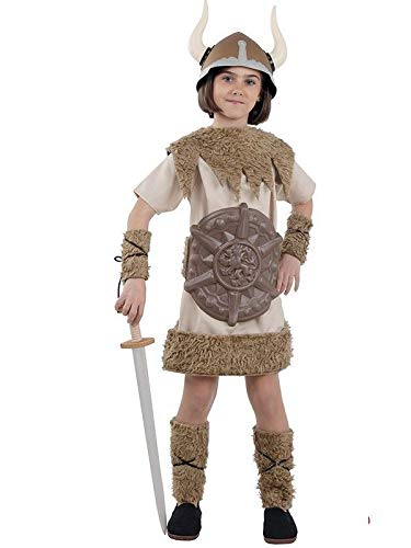 DISBACANAL Disfraz de Vikinga para niña - Único, 12 años
