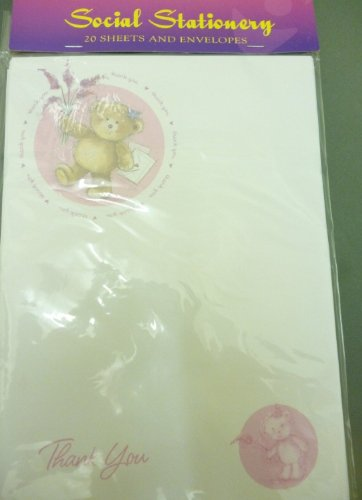 SET OF 3 - 60 Cute Bear Thank You Notes With Envelopes [Toy]