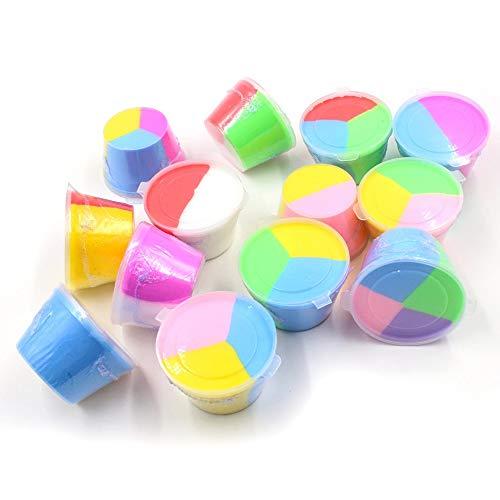 Greatangle-UK Ventilación de descompresión de plastilina de Color de Bricolaje de Fango de Barro de algodón Tricolor