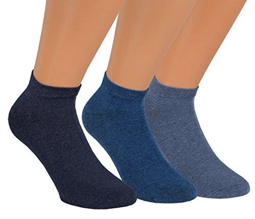 Vitasox 35233 Herren Sneaker Socken Sportsocken einfarbig ohne Naht 9er Pack 39/42