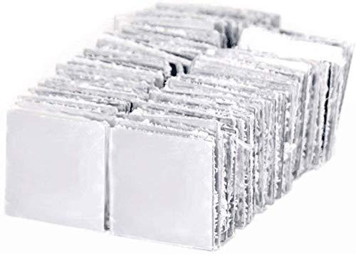Ulable 100 Stück Spiegel-Acryl-Fliesen-Wandaufkleber, 3D-Aufkleber, Mosaik, Raumdekoration, zum Aufkleben, modern, 5 x 5 cm, silberfarben