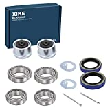 XiKe 2 Set Fits 1-1/16'' to 1-3/8' inch Axles Trailer Wheel Hub Kit, Include L68149/11 & L44649/10 Bearings, 171255TB/10-19 Seal, OD 1.98' Dust Cover and Cotter Pin.