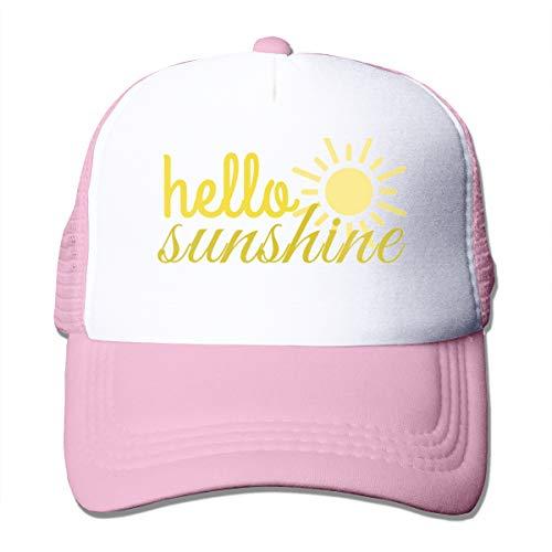 XNLHQH IJ Hello Sunshine Trucker Hat Baseball Cap Dad Hat Adjustable Size Pink