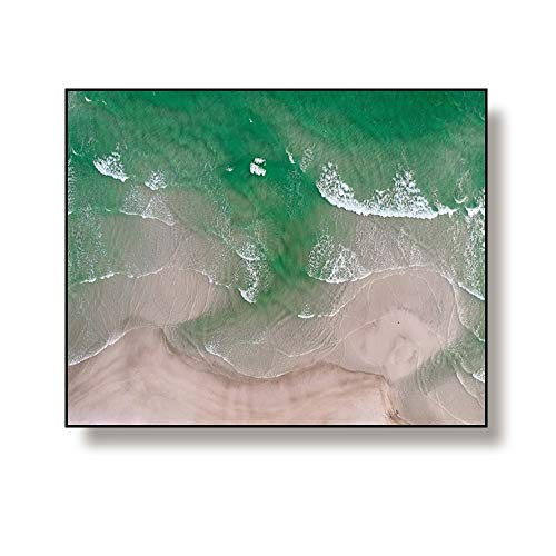 N / A Decorative Scandinavian Style Canvas Painting Used For Home Decoration Seascape Poster Frameless 70x56cm